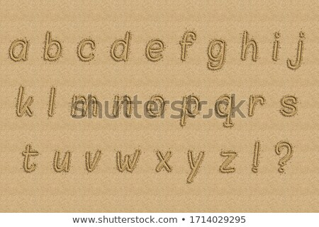 Sand Alphabet Stock photo © SimpleFoto