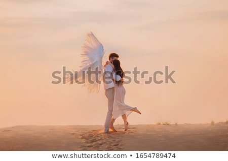 turned back girl in angels costume stock photo © paha_l