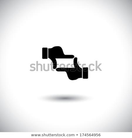 Producent ramki palec pracy tle biznesmen Zdjęcia stock © Paha_L