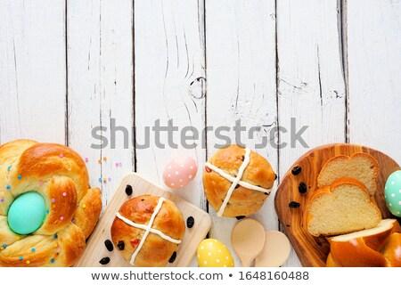 крест · красочный · яйца · окрашенный · украшенный - Сток-фото © borna_mir