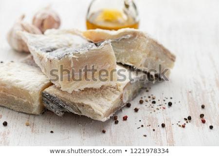 Gezouten vis voedsel Stockfoto © zkruger