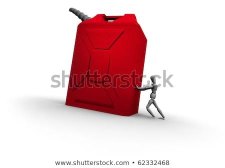 Mannequin Pushing Gas Can Stock photo © eyeidea