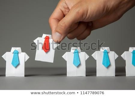 groep · zakenlieden · lijn · rij · geïsoleerd · witte - stockfoto © leeser