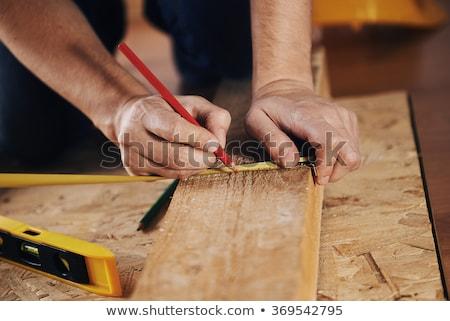 Carpenter measuring board Stock photo © Trigem4