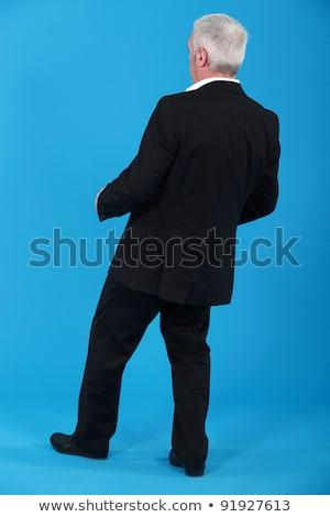 üzletember dől visszafelé üzlet haj háttér Stock fotó © photography33