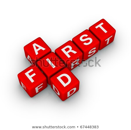 Crossword Of First Aid Foto stock © ALMAGAMI