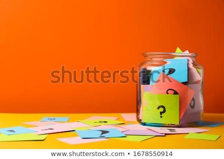 Gyik színes papír négyzetek fehér készít Stock fotó © mybaitshop