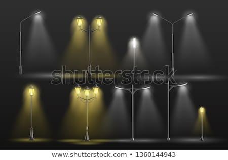 ランプ エレガントな 黒 ガラス 1泊 白 ストックフォト © marylooo