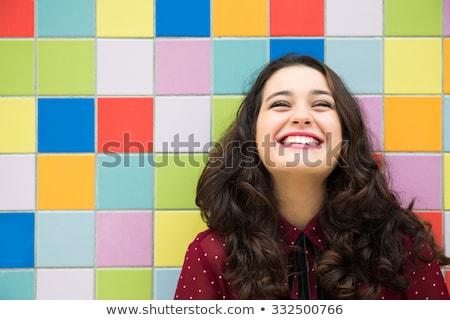 счастливым оптимистичный волос мнение Сток-фото © lovleah