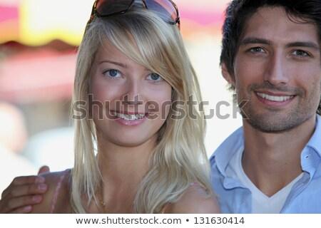 пару · оптик · оптик · покупке · Солнцезащитные · очки · женщину - Сток-фото © photography33