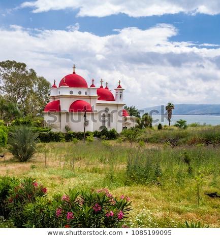 Grego ortodoxo mosteiro Israel vertical imagem Foto stock © rglinsky77