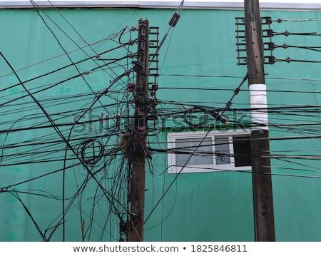 elektrik · kablolar · grup · yalıtılmış · beyaz · teknoloji - stok fotoğraf © smithore