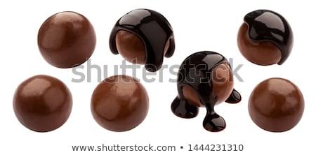 édes · csokoládé · golyók · darabok · márvány · absztrakt - stock fotó © kitch