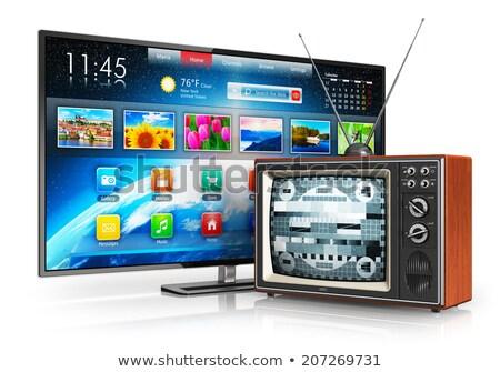 Illusztráció új öreg televízió otthon háttér Stock fotó © lindwa