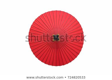 日本語 傘 詳細 伝統的な 赤 手 ストックフォト © Arrxxx