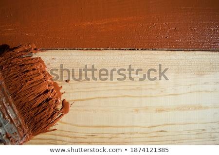 escove · pintura · ondulado · linha · cópia · espaço · acima - foto stock © mnsanthoshkumar