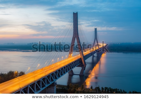 bridge upon Yangtze River Stock photo © prill