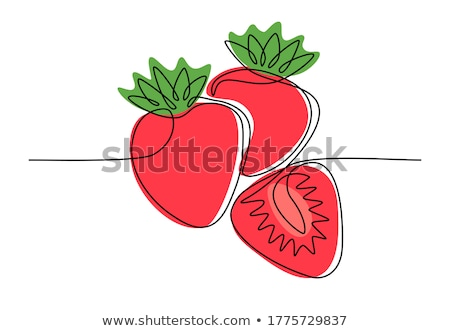Friss piros eper izolált fehér közelkép Stock fotó © boroda