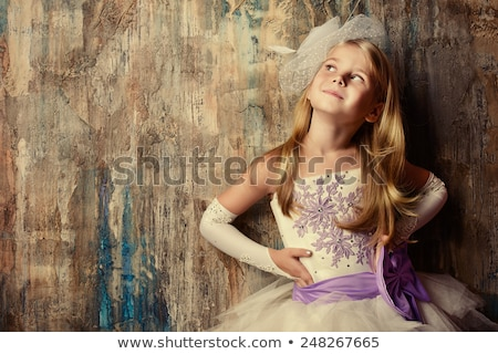 Stock photo: Adorable Pin Up Style Girl in Studio