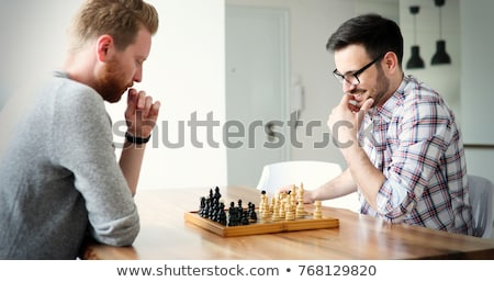 young man playing chess stock photo © photography33
