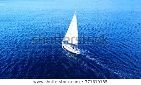 Beyaz mavi gökyüzü gökyüzü su doğa yaz Stok fotoğraf © inaquim