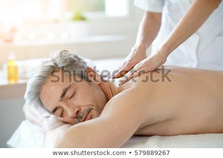 Homme massage spa cou visage tête Photo stock © godfer