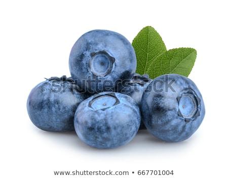 group of fresh blueberries stock photo © homydesign