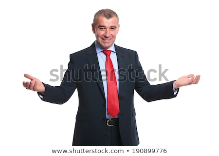 Business man welcomes you with open hand Stock photo © get4net