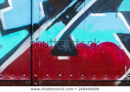 Messy graffiti metal wall Stock photo © serge001
