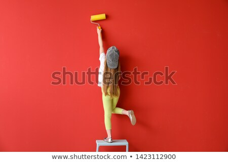 Little girl decorator Stock photo © photography33