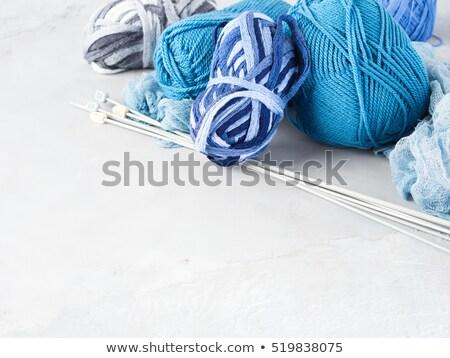 Blauw · wol · detail · huis · abstract - stockfoto © compuinfoto