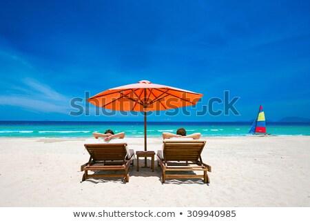 caribbean · turkoois · strand · zee · zon · wolken - stockfoto © moses