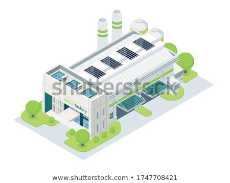Stockfoto: Groene · industrie · afbeelding · boom · natuur · tools