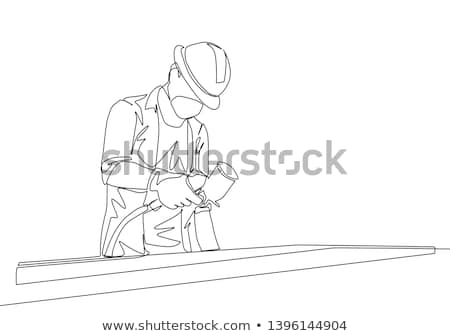 Man using paint sprayer Stock photo © photography33