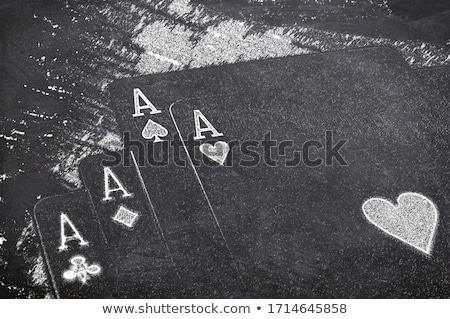 Stock photo: Four of aces
