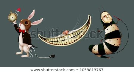 Estranho lagarta muitos venenoso borboleta planta Foto stock © smithore