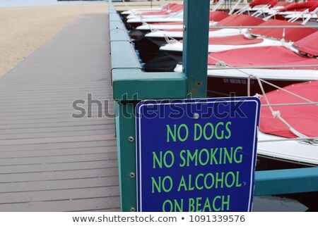 No Smoking on the Dock Sign Stock photo © grivet