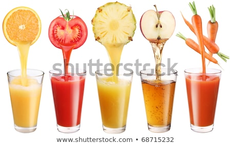 fresh juice pouring out of the apple Stock photo © adam121