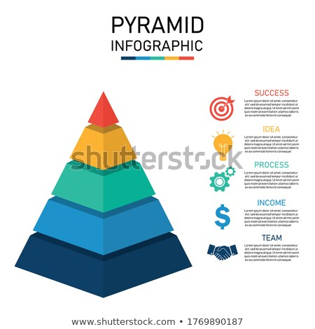 Vector Pyramid Five Levels, 3d Illustration Stock photo © olivier_le_moal