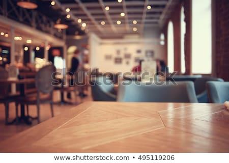 tables in restaurant decoration tableware empty dishware stock photo © juniart