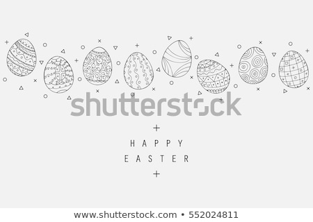 Vintage Easter Eggs  Stock photo © inarts