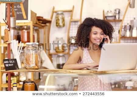 donna · sorridente · carta · di · credito · macchina · vestiti · store - foto d'archivio © wavebreak_media