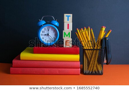 time to learn in blue glass cubes stock photo © marinini