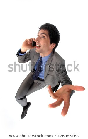 Peppy businessman talking on his mobile phone Stock photo © photography33