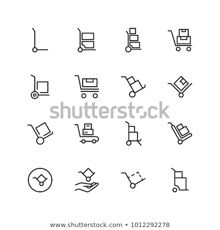 Warehouse Dolly Cart Icon Stock photo © cteconsulting