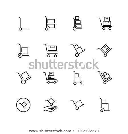 oranje · winkelwagen · geïsoleerd · witte · ontwerp · winkelen - stockfoto © cteconsulting