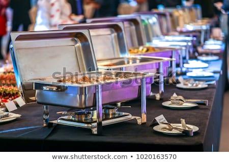 geserveerd · banket · tabel · wijnglazen · bril · partij - stockfoto © chatchai