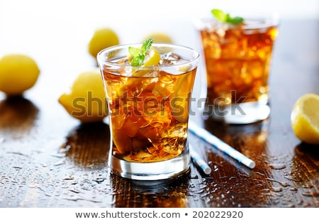 Citrus in wide glass with ice Stock photo © snyfer