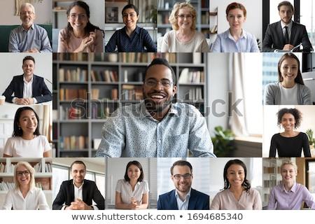 Udany spotkanie para doradca finansowy biuro biznesmen Zdjęcia stock © luminastock