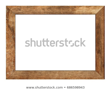 Wooden picture frame with clipping path Stock photo © sqback